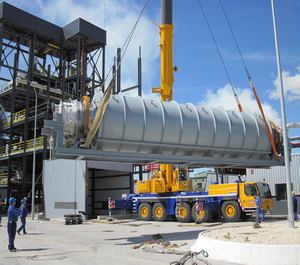 pyrolysis plant construction